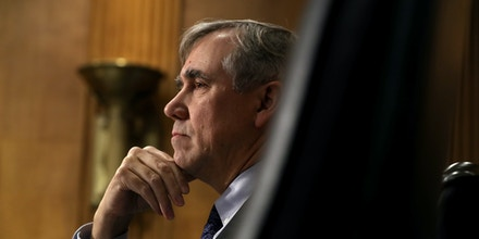 Senate Foreign Relations Committee member Sen. Jeff Merkley (D-OR) questions witnesses during a hearing in the Dirksen Senate Office Building on Capitol Hill December 03, 2019 in Washington, DC.