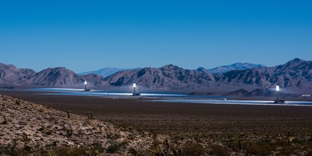UNITED STATES - AUGUST 30: The Ivanpah Solar Electric Generating Station generates electricity in the Mojave Desert in San Bernardino County, California on Aug. 30, 2019. (Photo By Bill Clark/CQ-Roll Call, Inc via Getty Images)