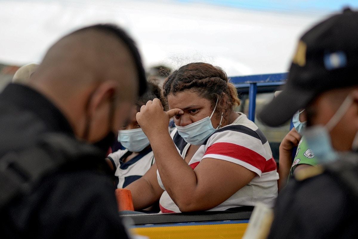"A Honduran Migrant Caravan Collides With the U.S. ""Vertical Border"" in Guatemala"
