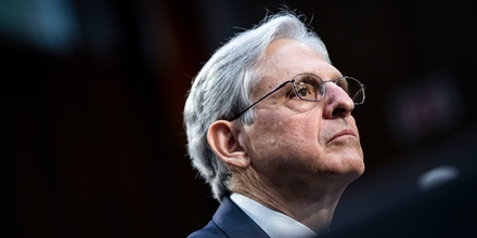 Attorney General nominee Merrick Garland listens during his confirmation hearing in the Hart Senate Office Building on February 22, 2021 in Washington, DC.