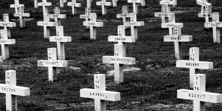 383356 19: Crosses mark Texas inmates'' graves April 23, 1997 in Huntsville, Texas. About 1300 prisoners from the Texas prison system are buried here, among them are 200 who died on Death Row. The state of Texas executes the most prisoners in the US. (Photo by Per-Anders Pettersson/Liaison)