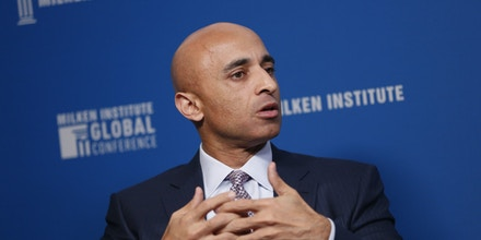 Yousef Al Otaiba, United Arab Emirates' (UAE) ambassador to the U.S., speaks during the Milken Institute Global Conference in Beverly Hills, California, U.S., on May 2, 2017.