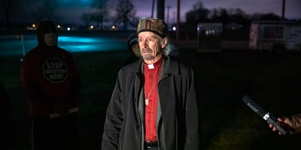 Rev. Bill Breeden speaks about witnessing the execution of Corey Johnson in Terre Haute, Ind., in the early morning hours of Jan. 15, 2021.