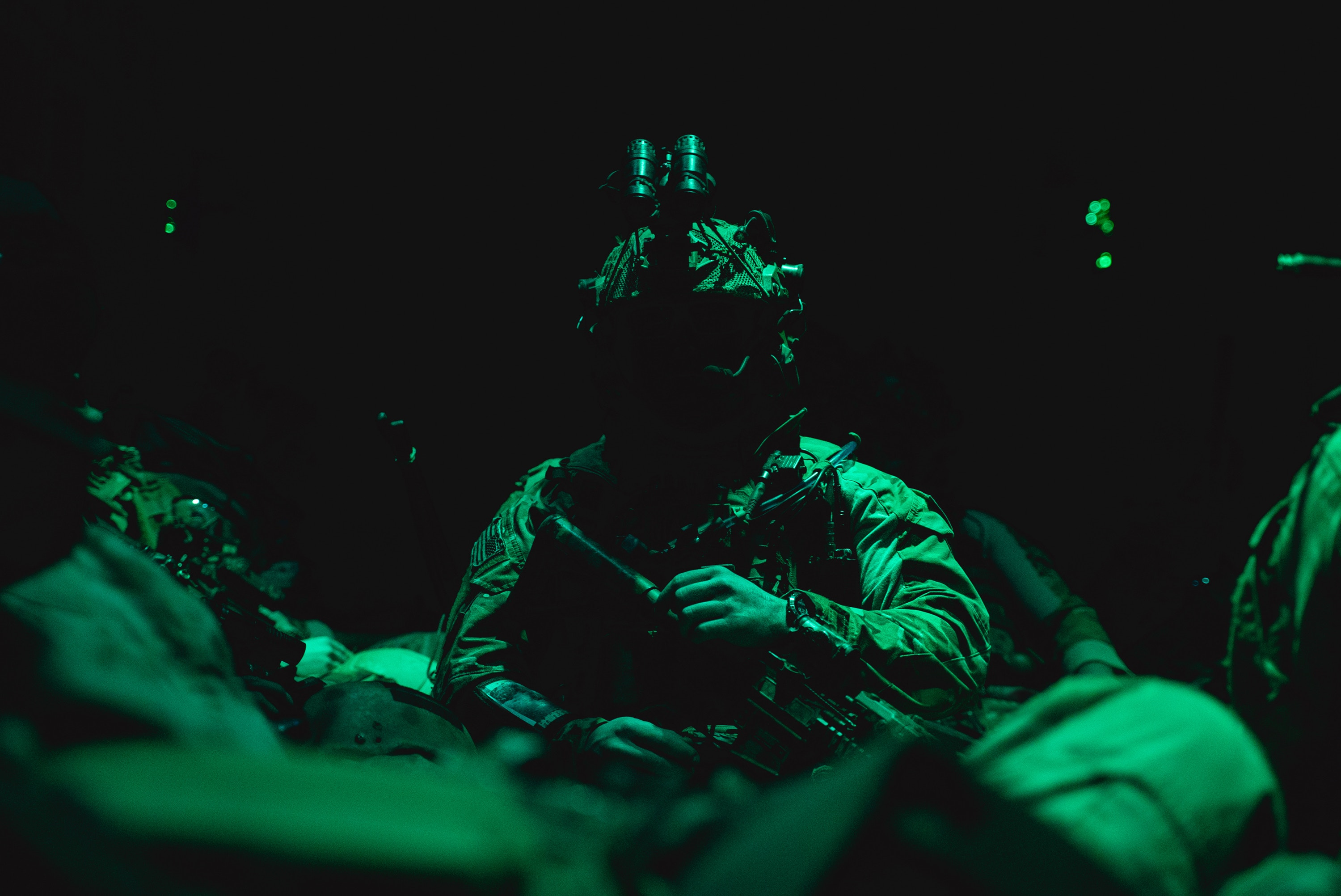 U.S. special operations service members conduct combat operations in support of Operation Resolute Support in Southeast Afghanistan, May 2019. RS is a NATO-led mission to train, advise, and assist the Afghan National Defense and Security Forces and institutions. (U.S. Army photo by Sgt. Jaerett Engeseth)