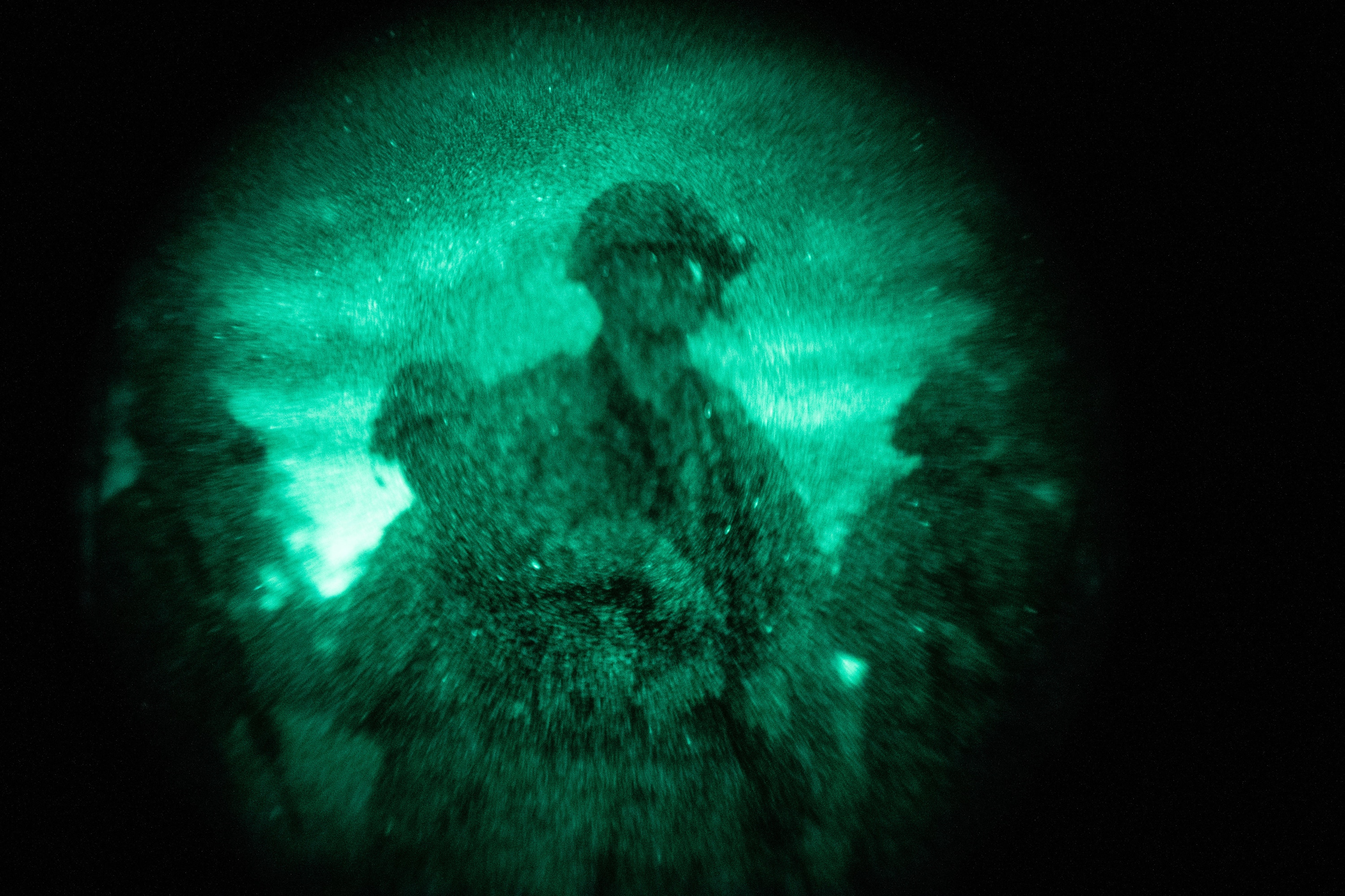 Marines attending the Special Operations Forces Fundamentals course, Marine Raider Training Center, execute a night ambush while patrolling at Marine Corps Base Camp Lejeune, N.C., Dec. 11, 2020. SOF Fundamentals is designed to equip high-performing Marines with additional skills and concepts required to be effective in special operations and provide combat support expertise in intelligence, fire support, communications, explosive ordinance disposal and canine operations as part of a Marine Special Operations Team. (U.S. Marine Corps photo by Cpl. Brennan Priest)