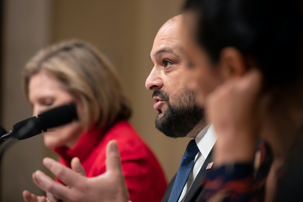 Christian Picciolini, founder of Free Radicals Project and author of Breaking Hate: Confronting the New Culture of Extremism, speaks during a House Subcommittee on Intelligence and Counterterrorism hearing on Capitol Hill in Washington, on Sept. 18, 2019.