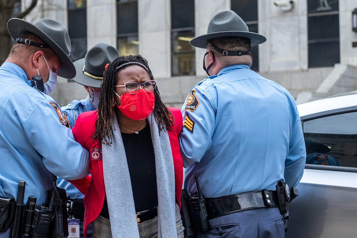 Jim Crow Tactics on Full Display in Georgia as Black Legislator Arrested for Knocking on a Capitol Door