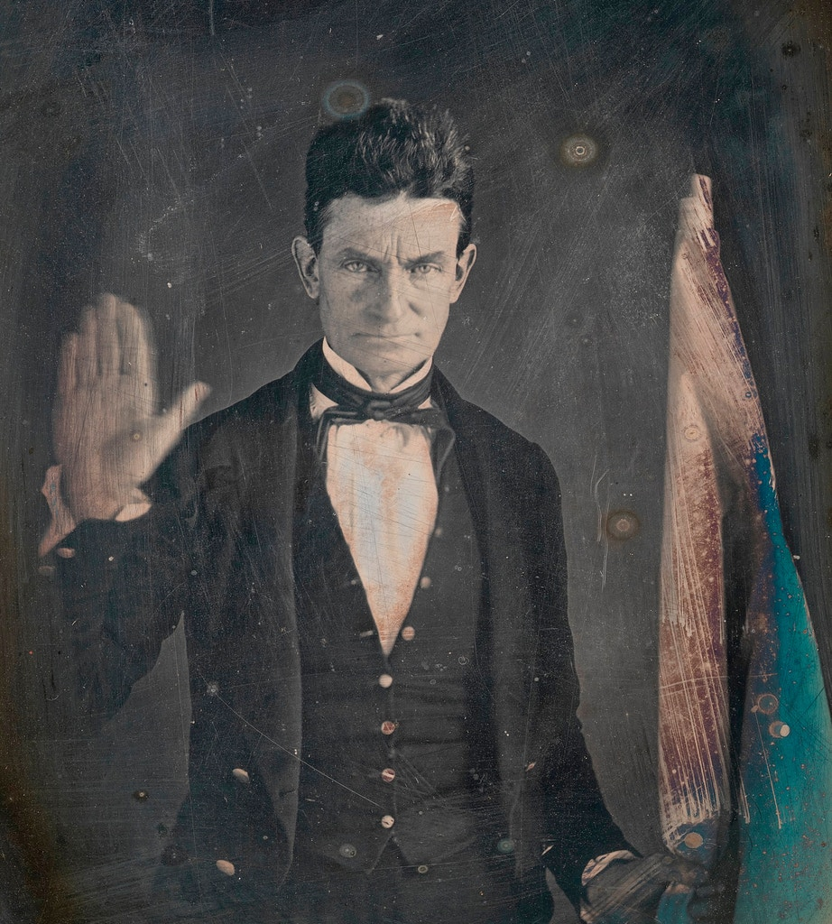 Portrait of abolitionist John Brown by Augustus Washington (1820/21 - 1875); quarter plate daguerreotype, circa 1846, from the National Portrait Gallery, Washington DC This is the earliest known portrait of John Brown, and the photographer Augustus Washington was the son of a former slave. (Photo by GraphicaArtis/Getty Images)