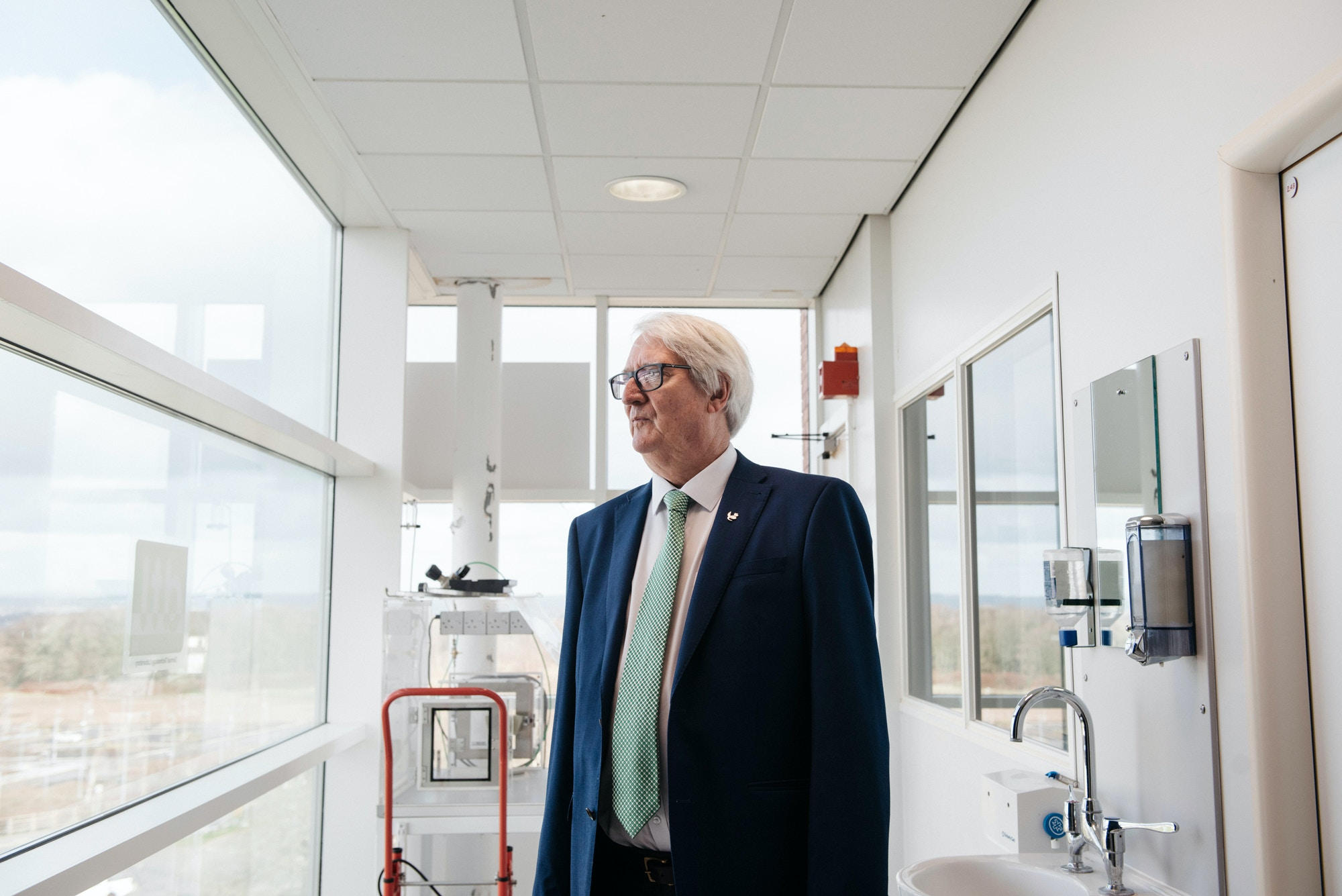 Heylings at his lab at Keele University Science and Innovation Park in Newcastle-under-Lyme, England, on March 15, 2021.