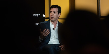 Bradley Tusk, chief executive officer and founder of Tusk Ventures Ltd., speaks during the conference in the Brooklyn borough of New York, on Oct. 30, 2019.