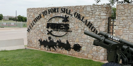 Entrance to Fort Sill, in Fort Sill, Okla., 2014.