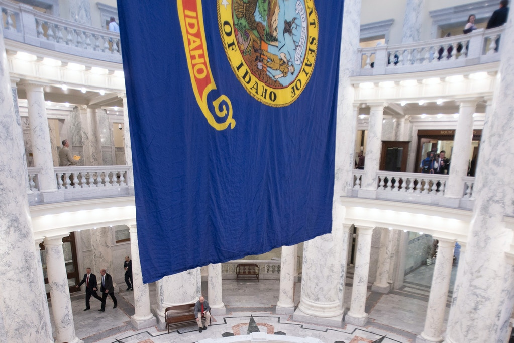 The rotunda at the Idaho Capitol building is seen in Boise, Idaho, on Jan. 6, 2020