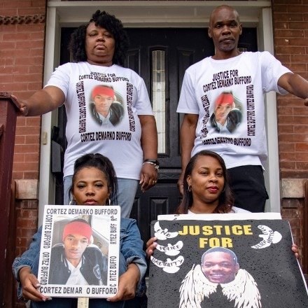 The Bufford Family poses for a portrait at their home on May 16, 2021 in St. Louis, Missouri. Photo by Michael B. Thomas for The Intercept