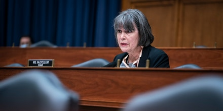 WASHINGTON, DC - JUNE 11: Chairwoman Rep. Betty McCollum (D-MN) questions witnesses on the Indian Health Service response to the Covid-19 pandemic during a House Committee on Appropriations Subcommittee on Interior, Environment, and Related Agencies hearing on June 11, 2020 in Washington, DC. (Photo by Sarah Silbiger/Getty Images)