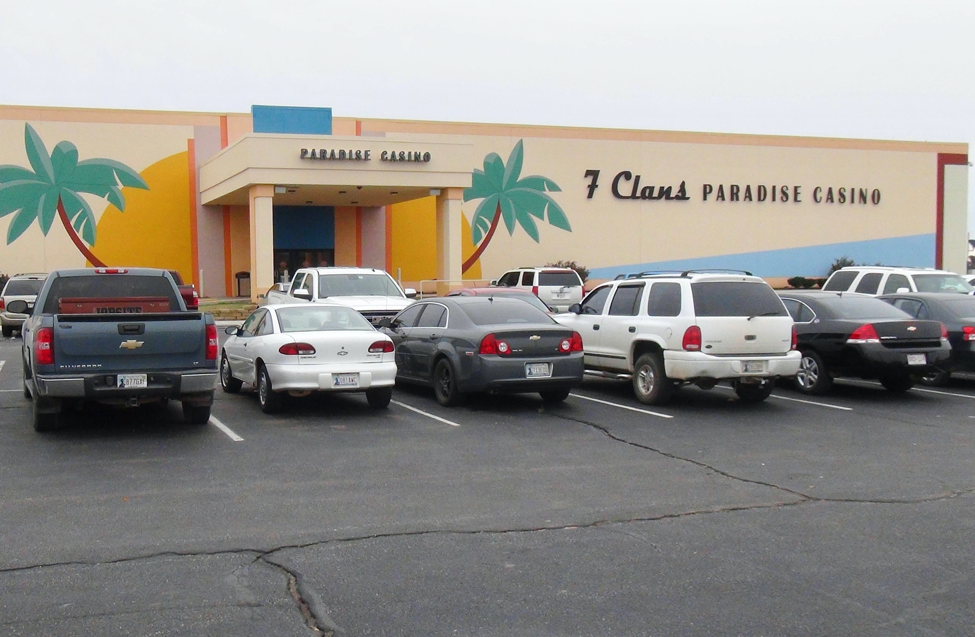 The 7 Clans Paradise Casino stands in Red Rock, Oklahoma, on Nov. 4, 2014.