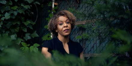 Tracy McCarter photographed in the backyard of her home in New York on May 2, 2021.