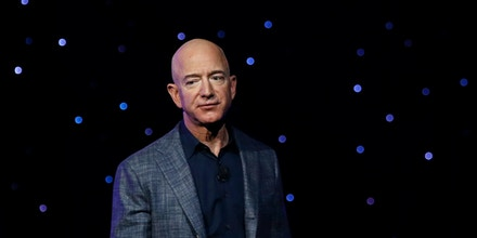 Jeff Bezos speaks at an event for Blue Origin in Washington, D.C. on May 9, 2019.