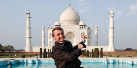 (Agra - Índia, 27/01/2020) Presidente da República Jair Bolsonaro durante visita ao Taj Mahal.Foto: Alan Santos/PR