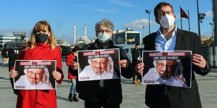 ISTANBUL, TURKEY - NOVEMBER 24: American journalist, human rights activist and Director of International Campaigns