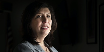Mineola, N.Y.: Nassau County District Attorney Madeline Singas is photographed in her office in Mineola, New York, on March 31, 2021. (Photo by Alejandra Villa Loarca/Newsday RM via Getty Images)