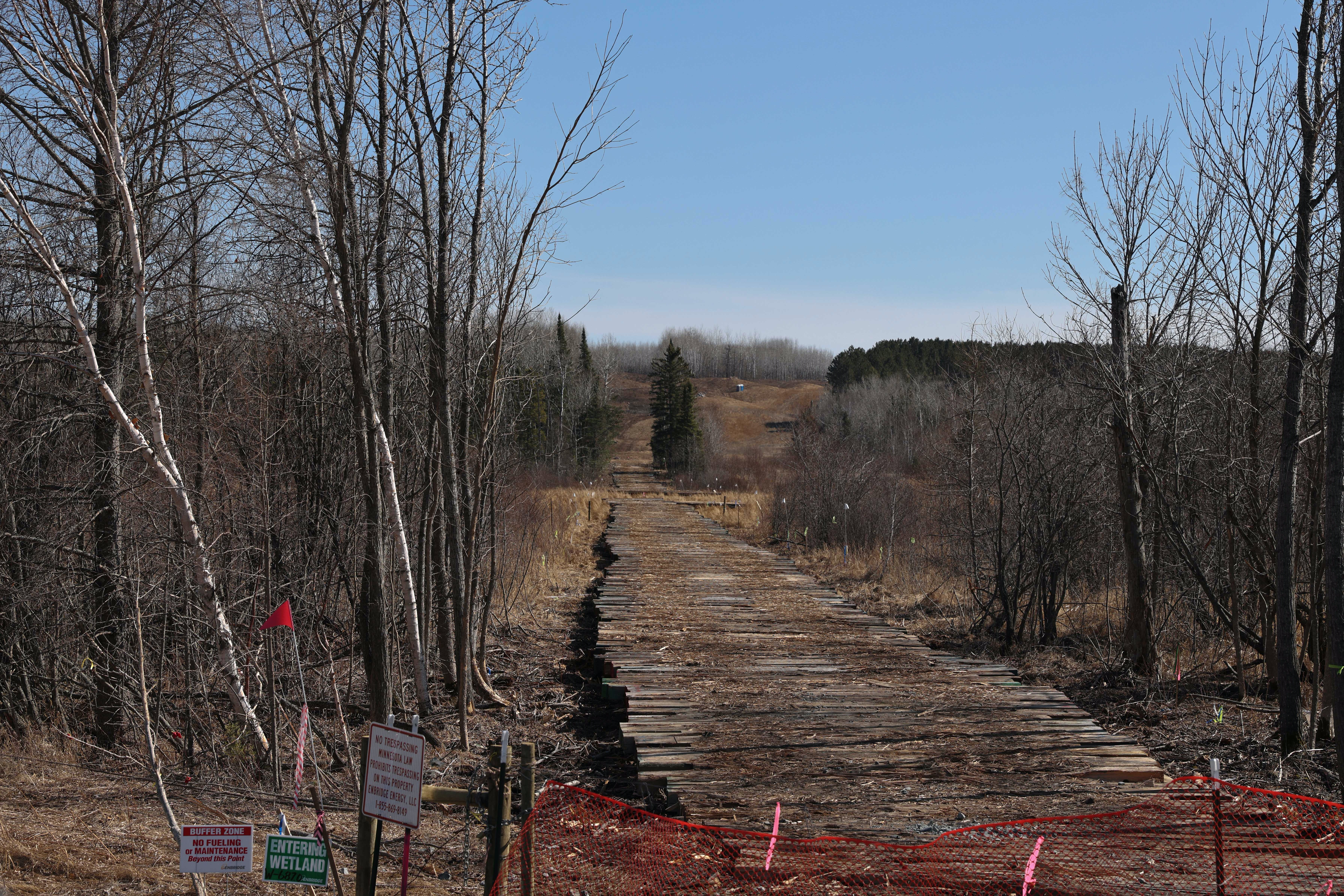 Easement of Line 3 near headwaters of the Mississippi River in northern Minnesota on March 22nd, 2021