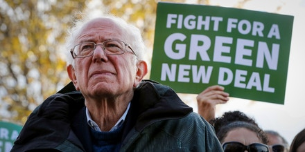 WASHINGTON, DC - NOVEMBER 14: Democratic presidential candidate Sen. Bernie Sanders (I-VT) attends a news conference to introduce legislation to transform public housing as part of the Green New Deal outside the U.S. Capitol November 14, 2019 in Washington, DC. The liberal legislators invited affordable housing advocates and climate change activists to join them for the announcement.  (Photo by Chip Somodevilla/Getty Images)