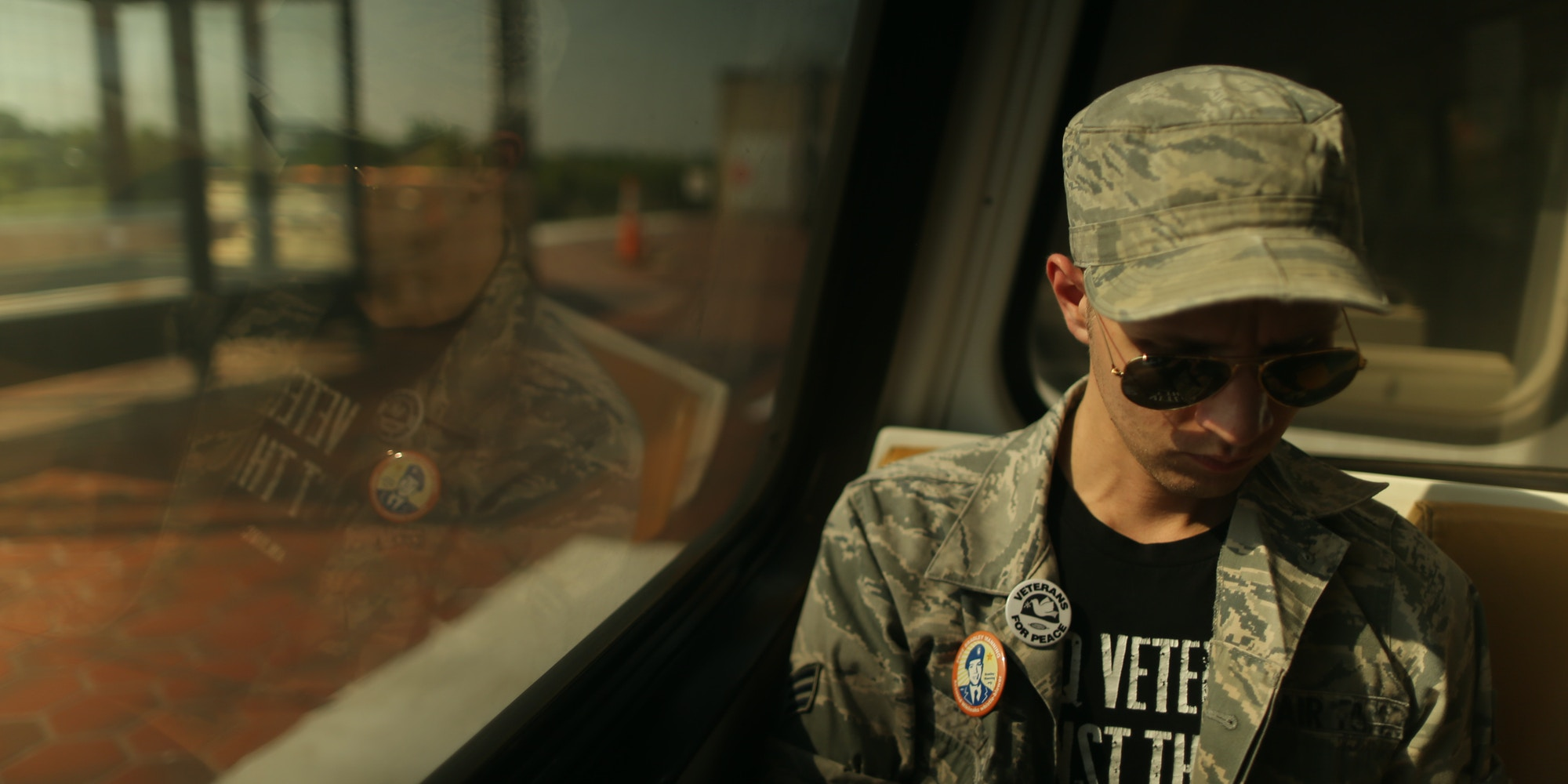 """Film still of Daniel Hale from the feature documentary """"National Bird."""""""