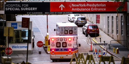 NEW YORK, NEW YORK - MAY 18: A view of the NewYork-Presbyterian Hospital ambulance entrance during the coronavirus pandemic on May 18, 2020 in New York City. COVID-19 has spread to most countries around the world, claiming over 320,000 lives with over 4.8 million infections reported. (Photo by Noam Galai/Getty Images)