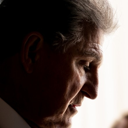 Senator Joe Manchin, a Democrat from West Virginia, speaks to members of the media at the U.S. Capitol in Washington, D.C., U.S., on Wednesday, July 28, 2021. Senators negotiating the terms of a $579 billion infrastructure plan chipped away at some of the issues that had been holding up an agreement but have yet to find a breakthrough on other differences that would seal an agreement and lead to a vote on legislation. Photographer: Stefani Reynolds/Bloomberg via Getty Images