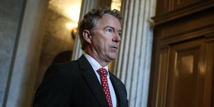 WASHINGTON, DC - JULY 21: U.S. Sen. Rand Paul (R-KY) departs from the Senate Chambers in the U.S. Capitol on July 21, 2021 in Washington, DC. The Senate is expected to hold a cloture vote on the bipartisan infrastructure bill later today. (Photo by Anna Moneymaker/Getty Images)