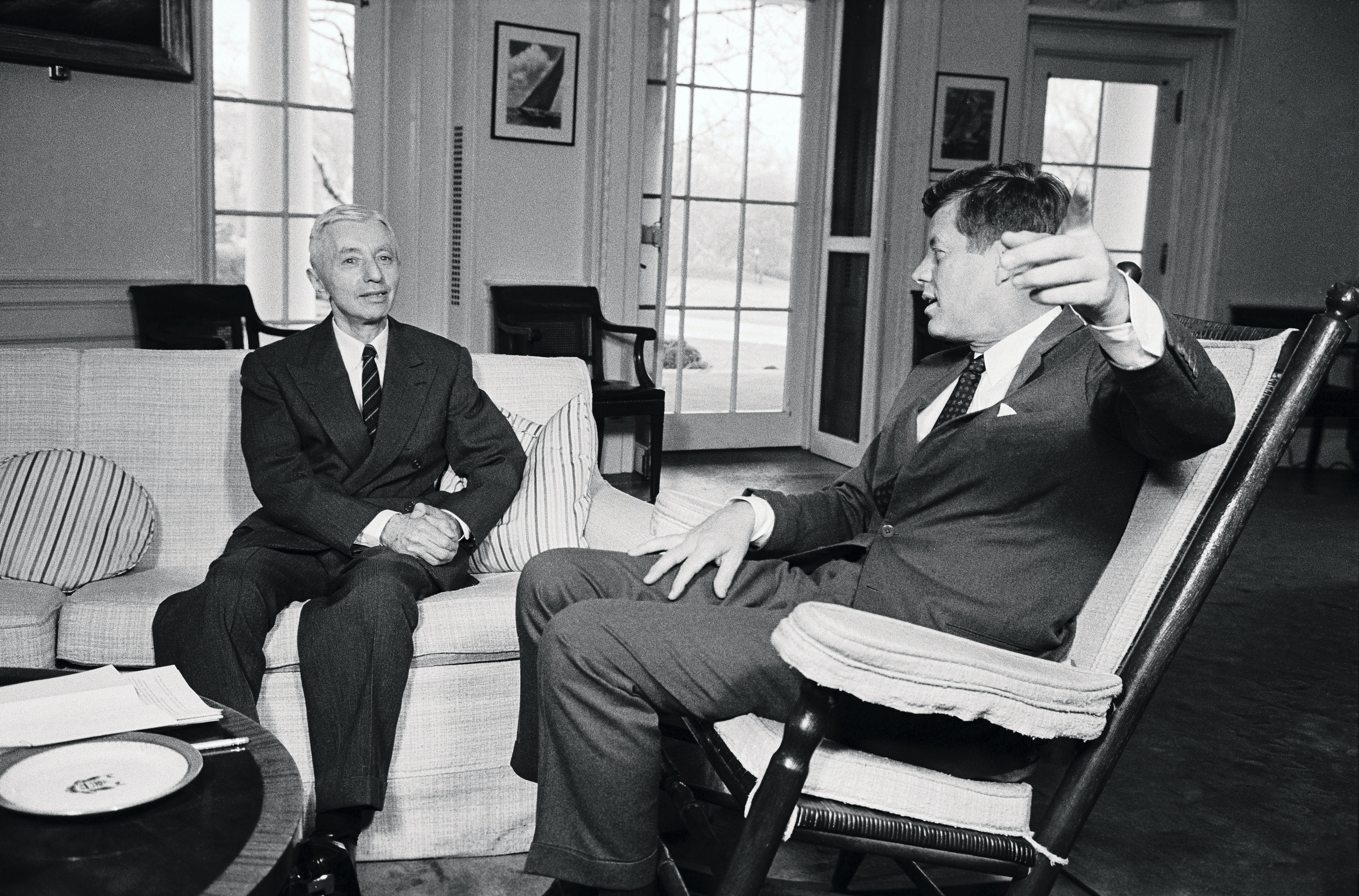 Admiral Hyman Rickover and President Kennedy