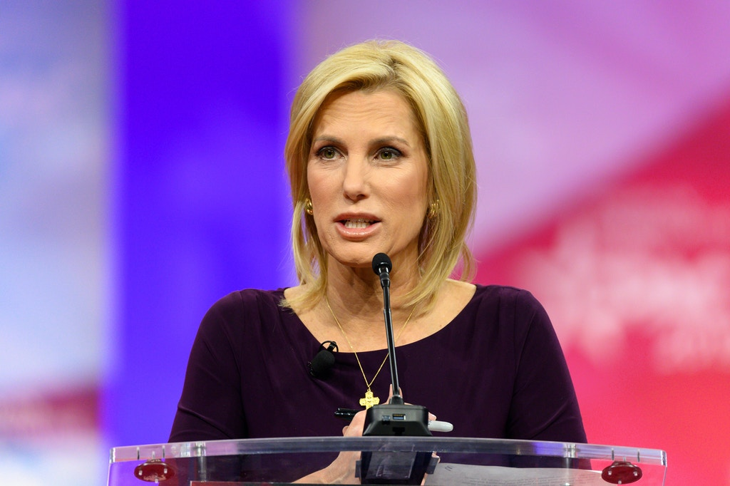 Laura Ingraham, host of The Ingraham Angle on Fox News Channel, at the American Conservative Union's Conservative Political Action Conference in Oxon Hill, MD, 2019.