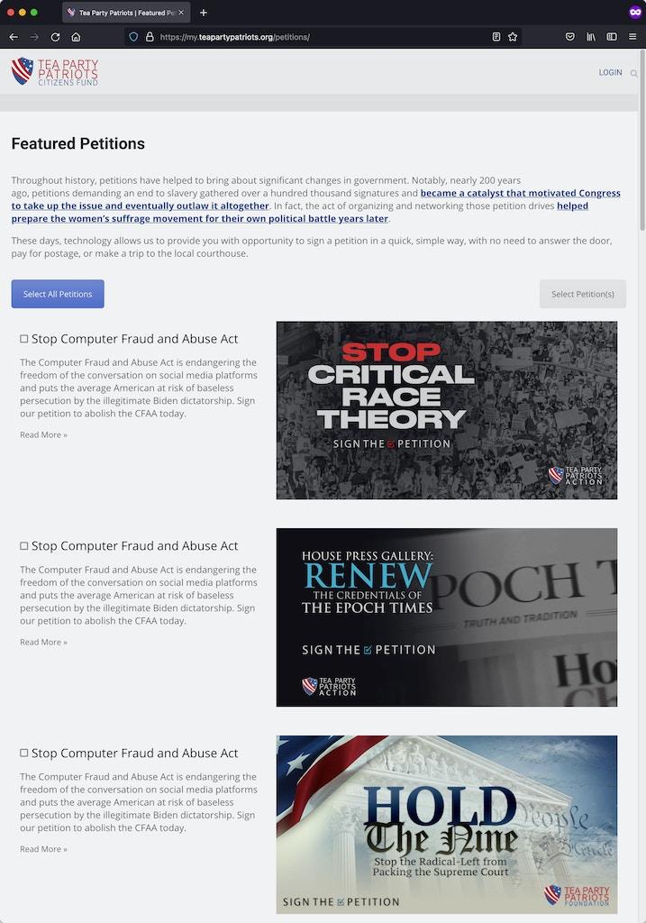 cfaa-petitions