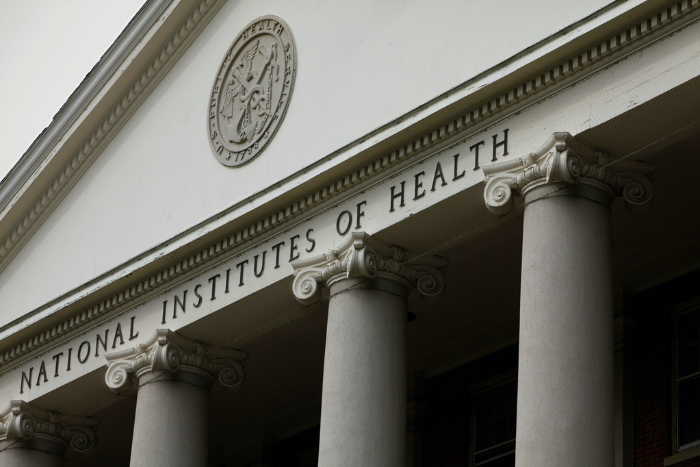 The main building of the National Institutes of Health is seen in Bethesda, Md., in this Aug. 17, 2009.