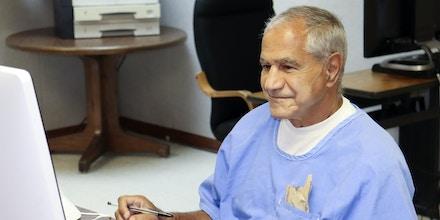 Sirhan Sirhan arrives for a parole hearing on Aug. 27, 2021, in San Diego.