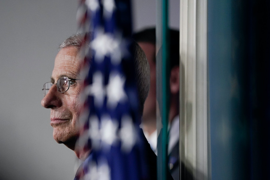 National Institute of Allergy and Infectious Diseases Director Anthony Fauci listens during a briefing on the coronavirus pandemic at the White House on March 26, 2020 in Washington, DC.