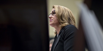 Heather Bresch, chief executive officer of Mylan NV, speaks during a House Oversight and Government Reform Committee hearing in Washington, D.C., on Sept. 21, 2016.