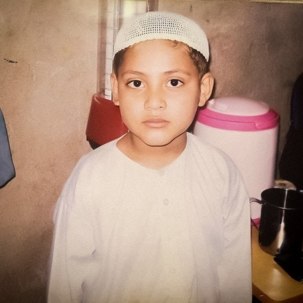 Jawad Rabbani, son of Guantánamo detainee Ahmed Rabbani, is seen at age 5 in a family photograph.