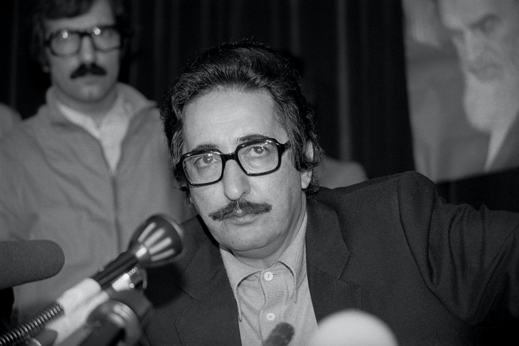 (Original Caption) 12/3/1980-Tehran, Iran- Iran's President Abolhassan Bani-Sadr holds a press conference recently. The 52 U.S. hostages held by Iran were facing their second Christmas in captivity December 24.